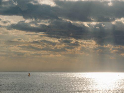 空と雲と海の写真