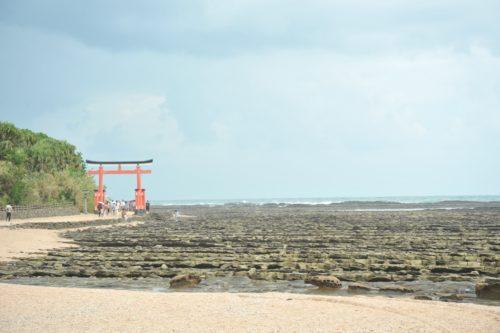 青島神社の鬼の洗濯岩