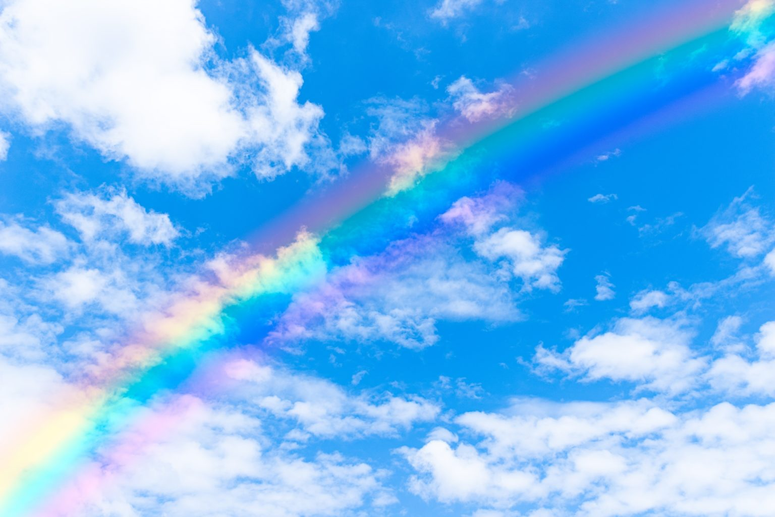 空 青空 虹