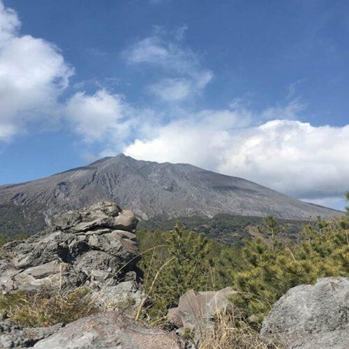 有村溶岩展望所から見た桜島
