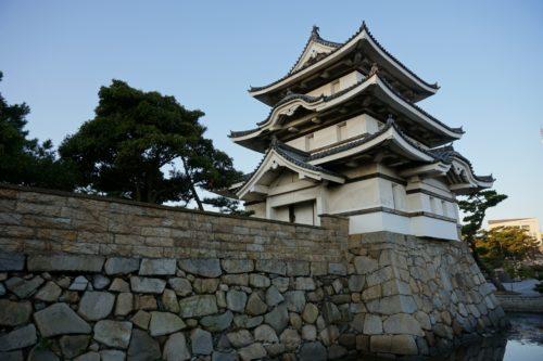 高松城 石垣・堀と月見櫓