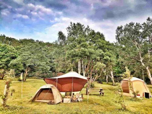 北海道キャンプ風景