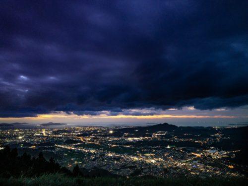 米の山展望台から見える夜景