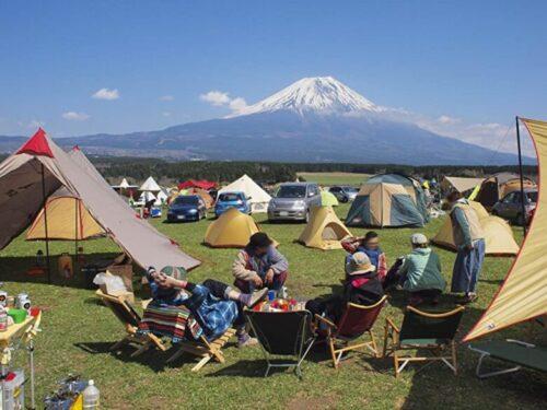 富士山が見えるキャンプ