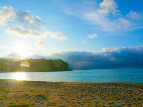 南伊豆、弓ヶ浜の日の出
