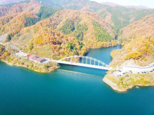 九頭竜湖 紅葉 福井県