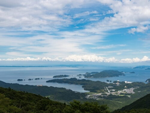 伊勢志摩スカイラインの山頂からの景色