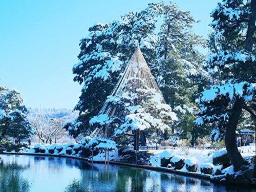 雪の世界文化遺産の兼六園