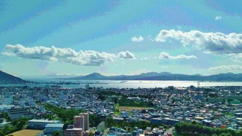 函館の街、函館港