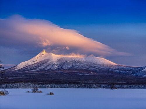 冬の朝の駒ヶ岳