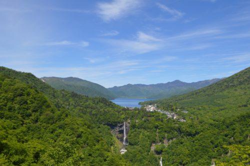 明智平展望台から見た中禅寺湖
