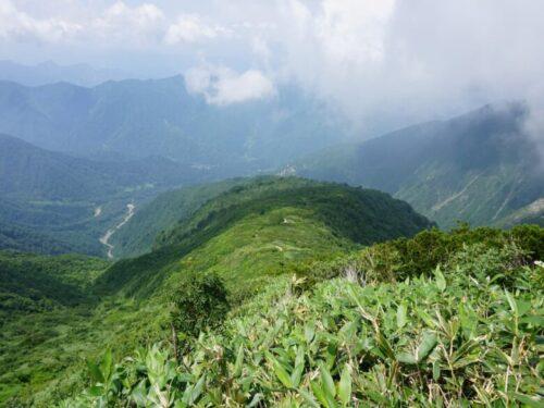 巻機山山頂付近からの風景