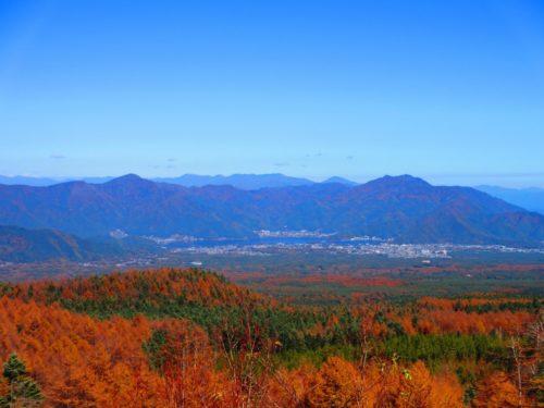 富士スバルラインから眺める河口湖