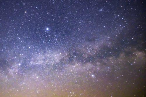 キャンプ場星空