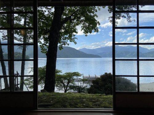 イタリア大使館別荘から中禅寺湖