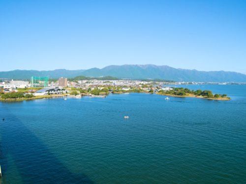琵琶湖大橋からの眺め