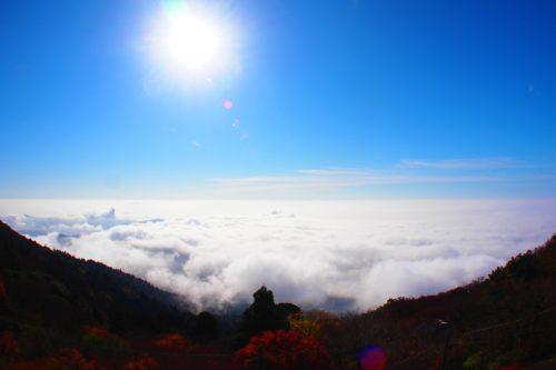 筑波山 雲海と紅葉