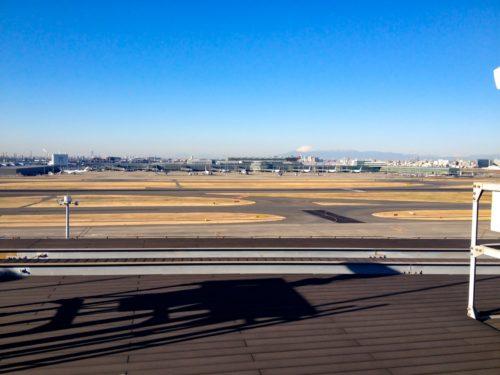 羽田空港からの風景・富士山