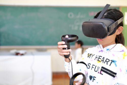 VRで授業