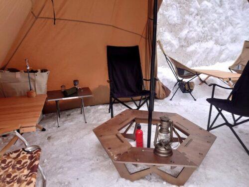 雪中 冬キャンプ