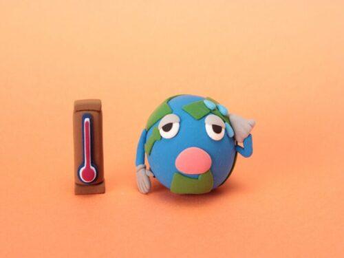地球温暖化、地球SOSの写真