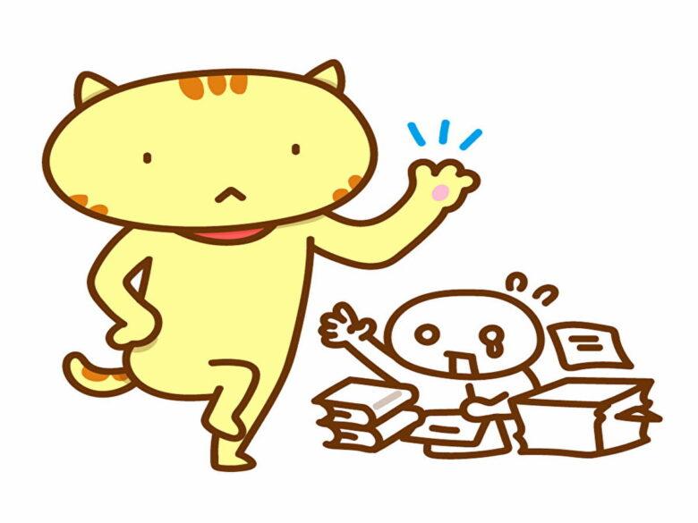 ことわざのイラスト:猫の手も借りたい