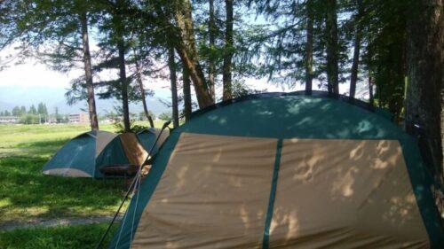 白馬 キャンプ場風景