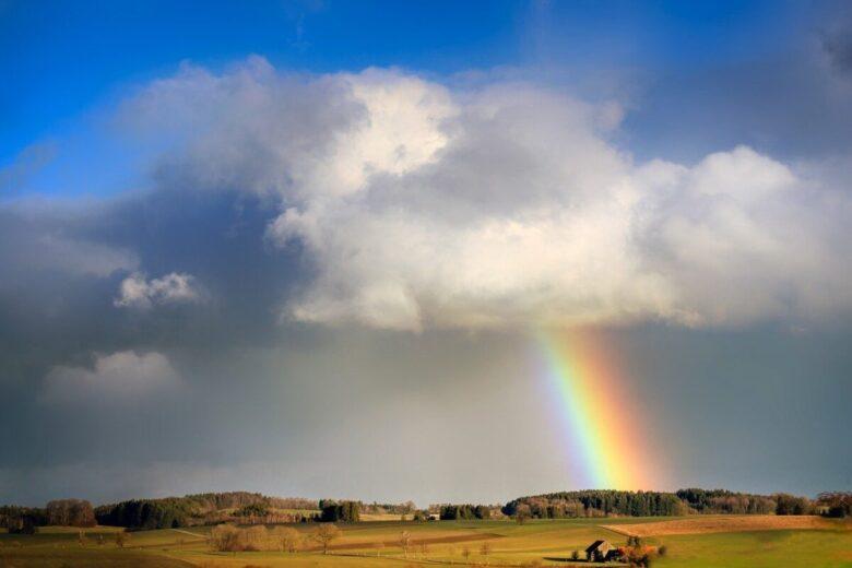 空と天気と虹