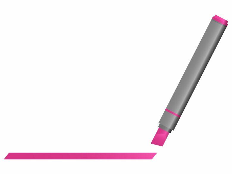 蛍光ペンとカテゴリー