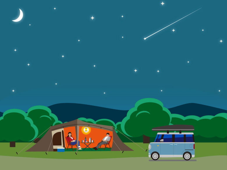 キャンプと流れ星